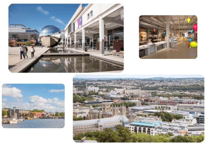 Tourist sites in Bristol UK